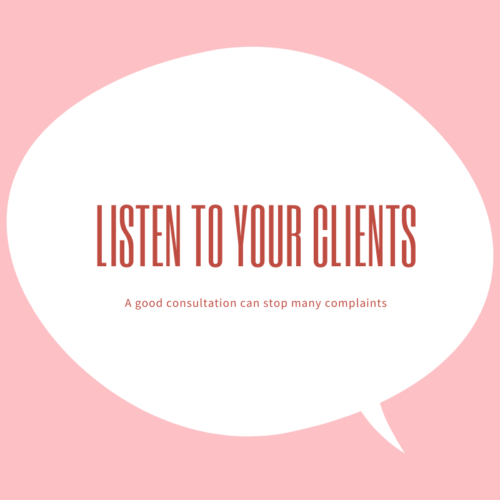 Listen to your clients